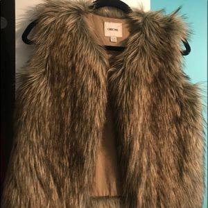 Little girls size XL fur vest